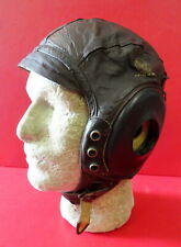 ARMY AIR FORCES TYPE A-11 LEATHER FLYING HELMET SZ. LARGE