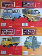 Magazines x 4 - Barkas Robur Multicar East German Trucks - Kultovni Auta CSSR