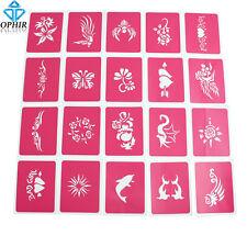 20PCS/SET OPHIR Pink Temporary Tattoo Stencil Glitter Body Paint Henna Templates