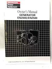 Honda Manual Generator EN2000/EN2500
