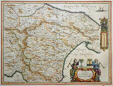 ITALIEN APULIEN TERRA DI BARI ET BASILICATA BLAEU KOLORIERT WAPPEN FREGATTE 1640