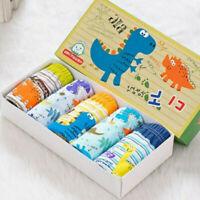5Pcs/set Kids Boys Cotton Soft Dinosaur Briefs Washable Underwear Briefs Panties