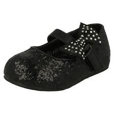 Chaussures habillées noirs avec attache auto-agrippant pour fille de 2 à 16 ans