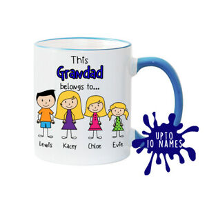 Grandad Mug Grandad's Family Mug Personalised Mug Fathers Day Mug Grandad gift