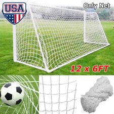 604d59b8a Outdoor Backyard 12x6FT Full Size Football Net for Soccer Goal Sports  Training S