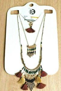 Krishna Beads Industries Necklace New Boho Hippy Beaded Tassle Costume Jewellery