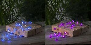 20er LED Batterie Lichterkette Kleine Glühbirnchen mit Timer 2,4 Meter, Outdoor