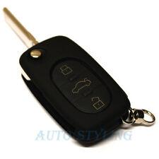 Tecla negra cubierta para Audi Funda Remoto fob 3 botón Skin Shell Pac Bolsa Casco 41bla