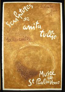 Anita Tullio (1935-2014) Kunstblatt Plakat, IN Heiliger Paul Von Vence 1974