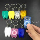 10Pcs Dental 15 Meters Floss Teeth Cleaning Key Ring Keychain Portable Colourful