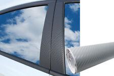 6x PREMIUM A B C Säule Tür Leisten Abdeckung Auto Folie Wrap Set Carbon Silber