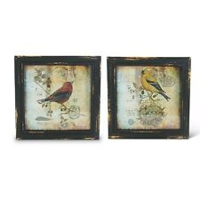 10 Inch Square Framed Bird Prints by K & K Interiors #12356A