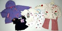 NWT LOT OF 7 COAT SHIRTS PANTS Girls TODDLER 2T  White Red Purple Pink Floral