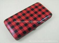 RED PLAID FLAT OPERA WALLET CLUTCH PURSE WRISTLET CREDIT CARD BAG HANDBAG GIFT