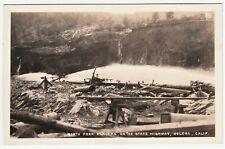 RARE RPPC State Highway Construction  Helena CA California 1920s Real Photo