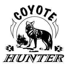 """Outdoor Decals """"Coyote Hunter"""" 6"""" x 6"""""""