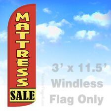 Flag Only 3' WINDLESS Swooper Feather Full Sleeve Banner Sign - MATTRESS SALE rq