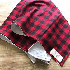 Buffalo Plaid Minky Baby Blanket