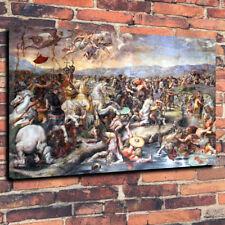 """La batalla de arte puente Milvio caja impresa cuadro lienzo A1.30""""x20""""30mm de profundidad"""