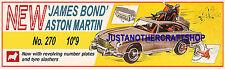 Corgi Toys 270 James Bond Aston Martin DB5 Large Poster Advert Shop Sign Leaflet