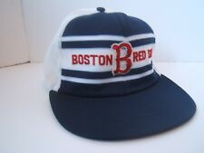 Vintage Boston Red Sox Spell Out Hat Dark Blue Snapback Trucker Cap