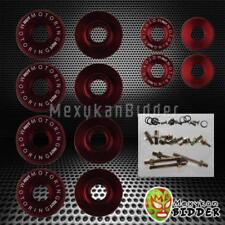 Red Aluminum Motor Valve Cover Washer Seal Bolt Nut Kit B-Series B16A B18C