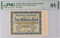 Germany 10 Millionen Mark 1923 P S935 Gem UNC PMG 64 EPQ