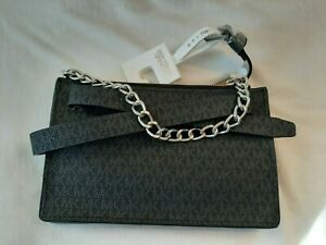 NWT Michael Kors Belt Bag Fanny Pack Crossbody Black Grey Small Monogram