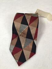 ZANZARA Carnaval De Venise Italy Multi Color Geometric Print Silk Neck Tie