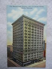 Omaha, Nebraska City National Bank Building 16th & Harney St used Linen Postcard