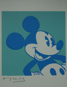 Pop Art Limited edition silkscreen – Mickey Mouse, signed Andy Warhol w docs