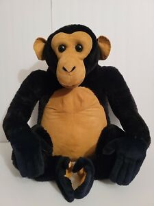 Melissa & Doug Large Cute Chimpanzee Chimp Ape Plush Stuffed Animal - Nice&Clean