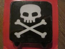 Jolly Roger style square birthday candle