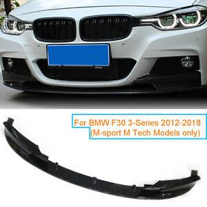 Gloss Black Front Bumper Lip Spoiler Splitter For BMW F30 3 Series M Style 12-18