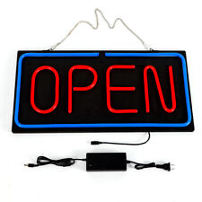 "Ultra Bright Led Neon Light Bright ""Open"" Sign Open Business Sign 24"" x12 "" Sale"