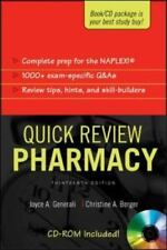 Quick Review - Pharmacy by Joyce A. Generali and Christine A. Berger (2005,...