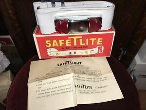 RARE Vintage 1960's Bicycle Flashing Directional SAFETLITE Signal Light Belt