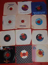 LOT OF 9 VINTAGE 45 RECORDS IN SLEEVES ROCK & ROLL R&B & SOUL DEBARGE FOREIGNER