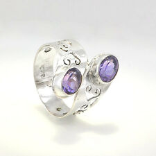 Amethyst and Sterling Silver Ring Size N (US = 7)