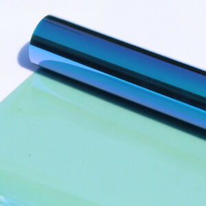 Blue&green Chameleon Car Home Window Tint Film VLT 55% Solar Sun Protection Tint