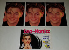 4 VTG Leonardo Dicaprio Postcards UNUSED Lot Heroes Publishing Leo-Mania