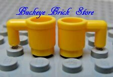 NEW Lego Minifig YELLOW DRINKING CUPS Mugs Food Kitchen Dishes