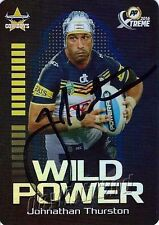 ✺Signed✺ 2016 NORTH QUEENSLAND COWBOYS NRL Card JOHNATHAN THURSTON Power Play