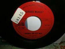"Gerard Manset""animal on est mal""single7""or.canada.pathé:77750.de 1968.very rare"