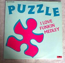 "DISQUE VINYL MAXI 45 T INT/PUZZLE""I LOVE FUNKIN"" MEDLEY STEINAR 881 337-1"
