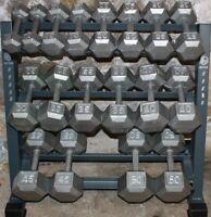 Dumbbell Weight Rack Fitness Storage Holder Gym Organizer Shelf Kettlebell Stand