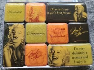 New - Marilyn Monroe Collectible (9 pc) Magnet Set - VN70056