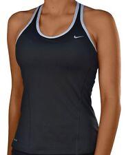 Nike Womens Long Shaping Running Yoga Black Training Bra 573212-010 Sz M Reflect