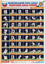 Posters JUDO. Orange  belt  1 poster.The technique of judo.NAGE WAZA.
