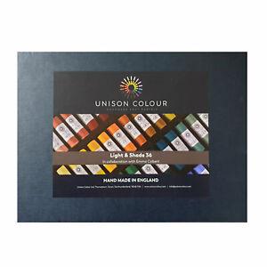 Unison Colore Fatto a Mano Pastelli Luce & Tonalità Set Di 36 Colori